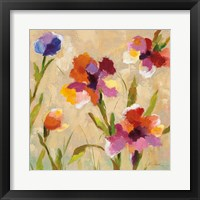 Bold Bright Flowers III Framed Print