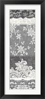 Vintage Lace Panel II Framed Print