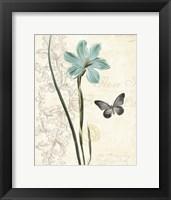 Framed Lila Bleu I