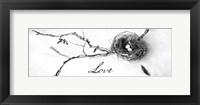 Framed Nest and Branch II Love
