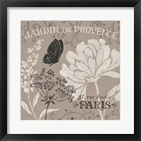 French Linen Garden III Framed Print