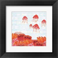Framed Orange Jelly Fish