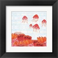 Framed Orange Jelly Fish