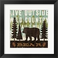 Framed Simple Living Bear