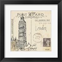 Postcard Sketches II Framed Print
