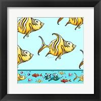 Framed Angel Fish