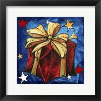 Red Present Framed Print