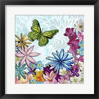 Whimsical Floral Collage 3-2 Framed Print