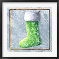 Vintage Stocking 1 Framed Print