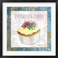 Everything Sweet Vanilla Cupcake Framed Print