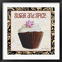 Sugar And Spice Chocolat Cupcake Framed Print