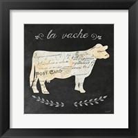 La Vache Cameo Sq Framed Print