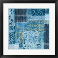 Alhambra III Indigo Framed Print