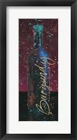 Framed Wine Splash Dark V