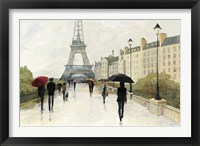 Framed Eiffel in the Rain Marsala Umbrella