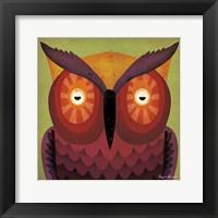 Framed Owl WOW