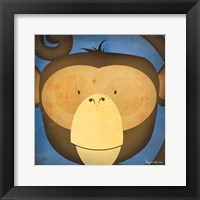 Monkey WOW Framed Print