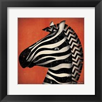 Zebra WOW Framed Print