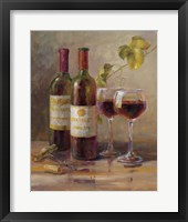 Opening the Wine I Framed Print