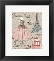Fashion Week III Framed Print