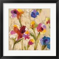 Bold Bright Flowers II Framed Print