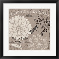 French Linen Garden II Framed Print
