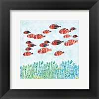 Framed Redfish School