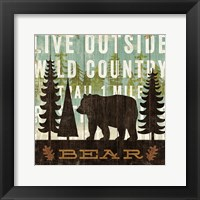 Framed Simple Living Bear