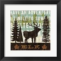 Framed Simple Living Elk
