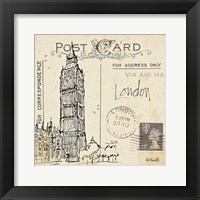 Postcard Sketches II Framed Print