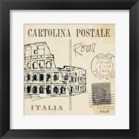 Postcard Sketches IV Framed Print