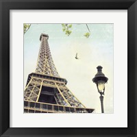 Framed Paris Eiffel Letter