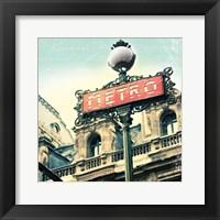 Framed Paris Metro Letter