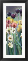 Grape Tulips Panel I Framed Print