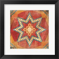 Framed Moroccan Tiles VII