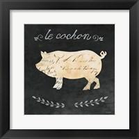 Framed Le Cochon Cameo Sq
