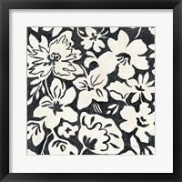 Chalkboard Floral II Framed Print
