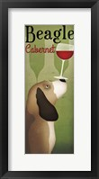 Framed Beagle Winery Cabernet