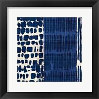 Indigo Batik I Framed Print