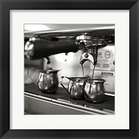 Coffeehouse II Crop Framed Print