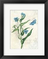 Booked Blue I Crop Framed Print