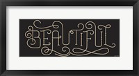 Framed Curly Script Beautiful Thick