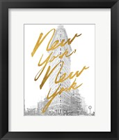 Framed Gilded New York