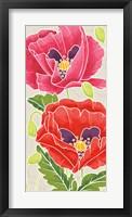 Framed Sunshine Poppies Panel II
