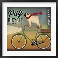 Framed Pug on a Bike