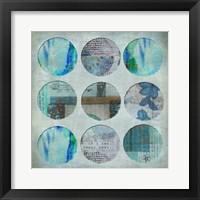 Framed Circle Turquoise