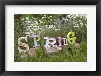 Framed Spring Sign