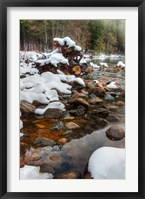 Framed Merced River Rocks, Yosemite, California