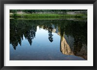 Framed Reflection of El Capitan in Mercede River, Yosemite National Park, California - Horizontal