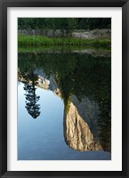 Framed Reflection of El Capitan in Mercede River, Yosemite National Park, California - Vertical